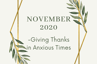 Giving Thanks in Anxious Times